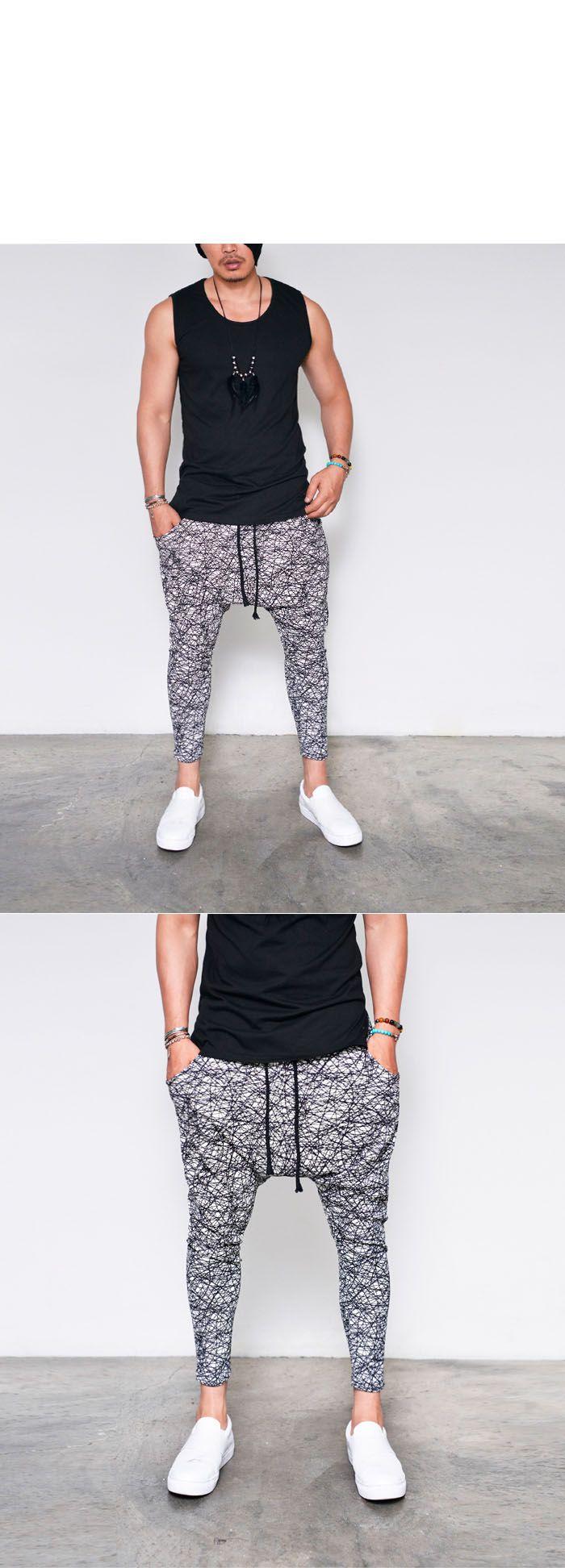 Doodle Print Cropped Drop Baggy-Sweatpants 301 by Guylook.com   #menswear #guylook #guylooks #menspants #pants #linen #summer #ootd #style #mensfashion #fashion #cool #outfit #sweatpants #남자 #패션 #스타일 #스타일리쉬 #남성쇼핑몰 #남성스타일 #남자스타일 #여름 #남자바지