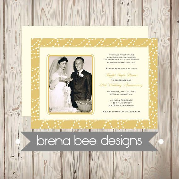 Personalized 50th Wedding Anniversary by brenabeedesigns on Etsy, $14.75
