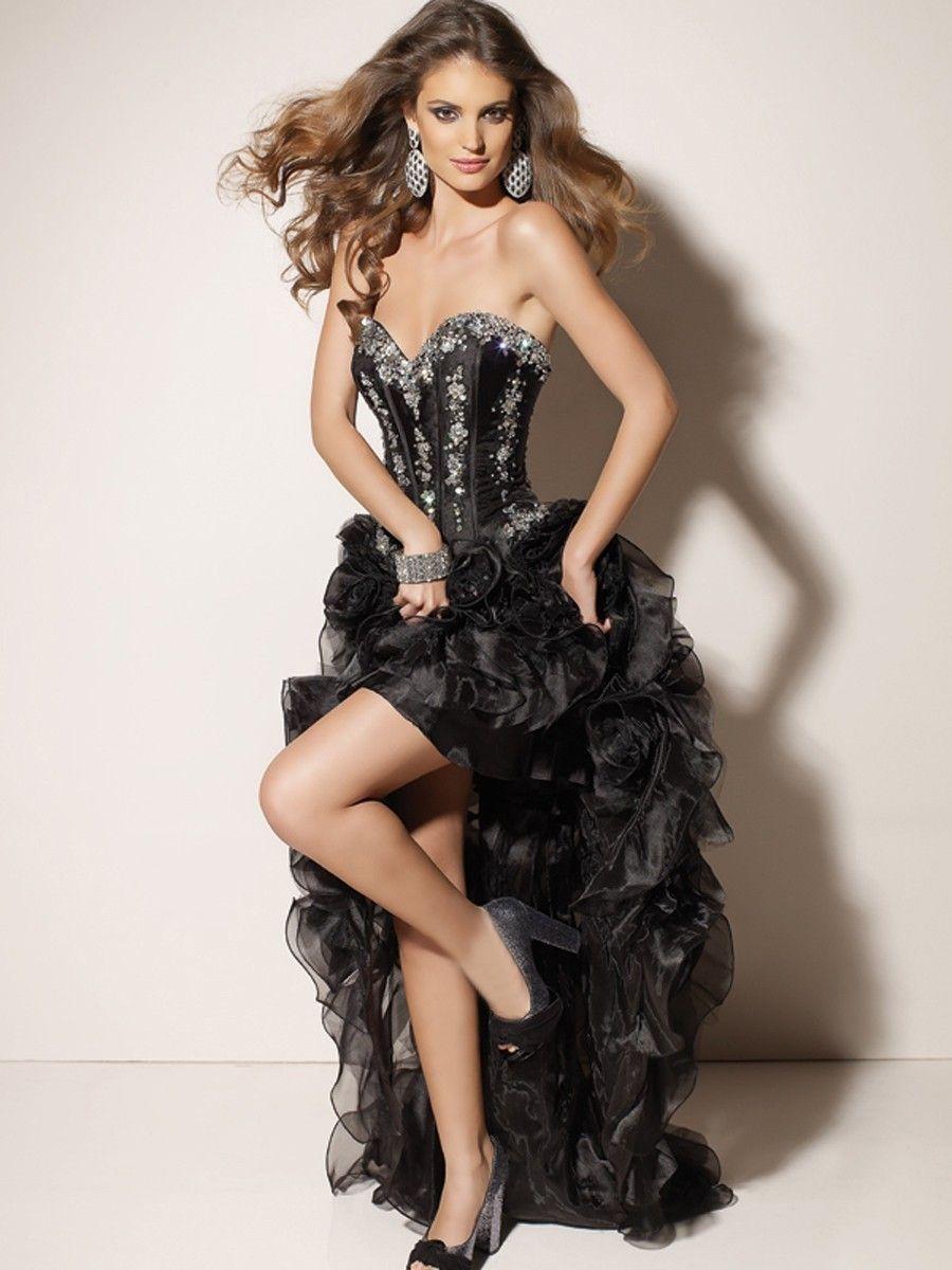 Cheap pretty aline sweetheart sleeveless floorlength organza dress