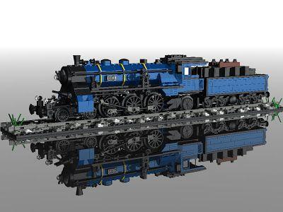 LEGO MOC: Bavarian S3-6 Steam Engine in 7 wide   Lego   Lego