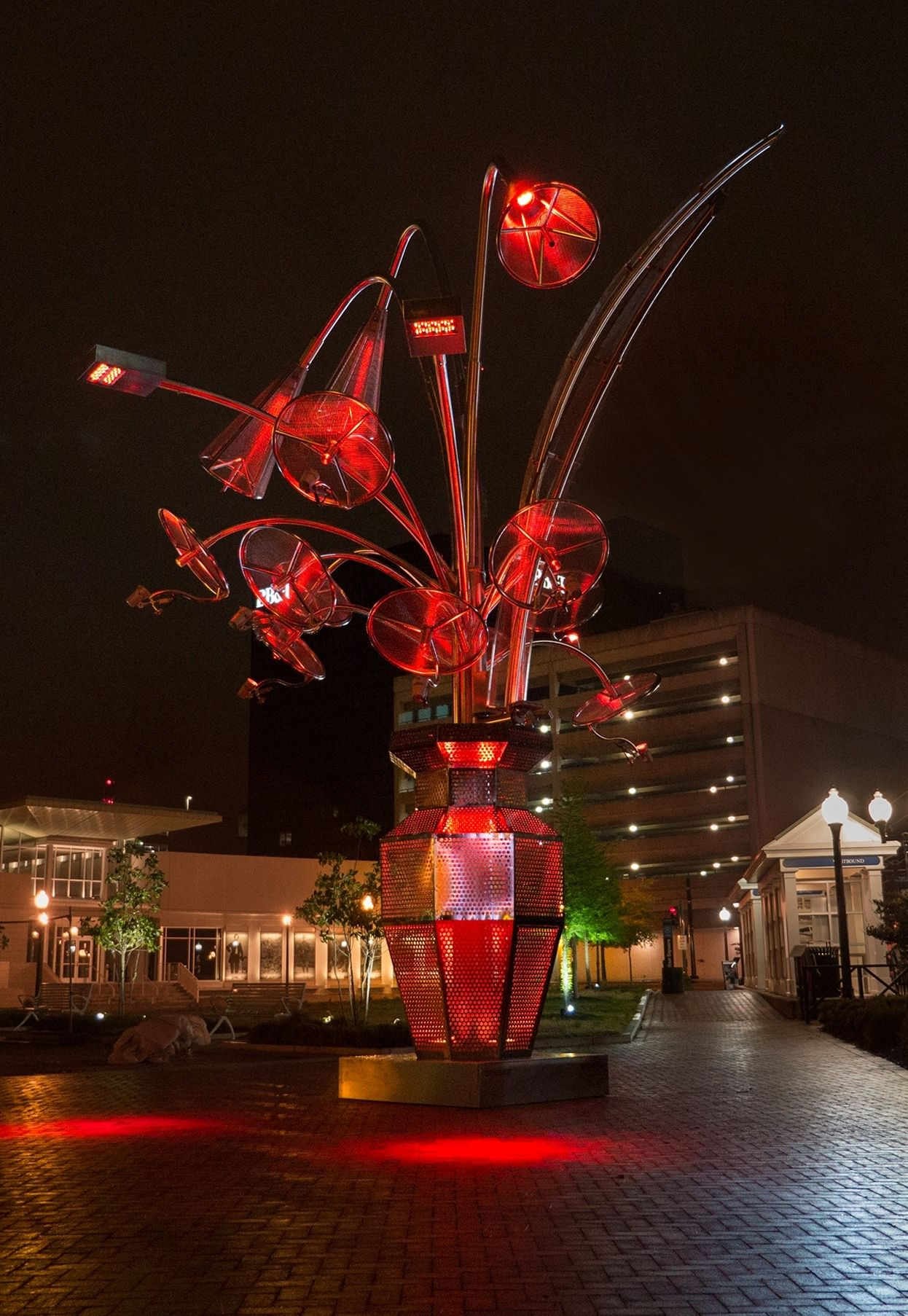 MetalMatisse by Electroland at MacArthur Square in Norfolk ...