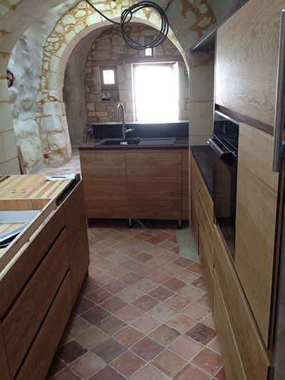 cuisine fa ades ch ne et plan de travail en fr ne thermochauff cuisine bois cologique. Black Bedroom Furniture Sets. Home Design Ideas