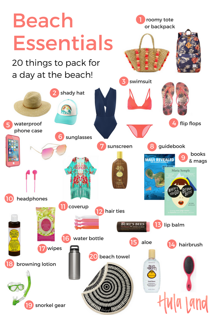20 Beach Bag Essentials Use This Ng List So Make Sure You Don T Forget Anything Important Vacationng