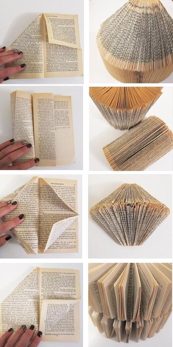 43 inspirations pour savoir quoi faire avec de vieux livres