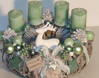 "Christmas door wreath ""Hirschlein + fir tree + stars"""