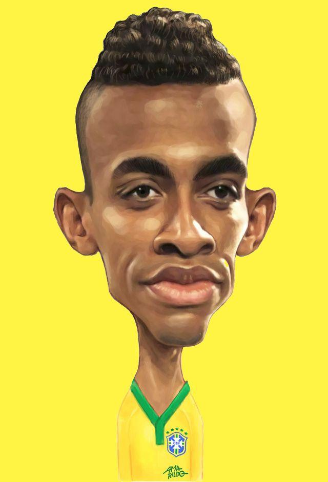 LUIZ GUSTAVO – Caricaturas para o pôster da Seleção Brasileira