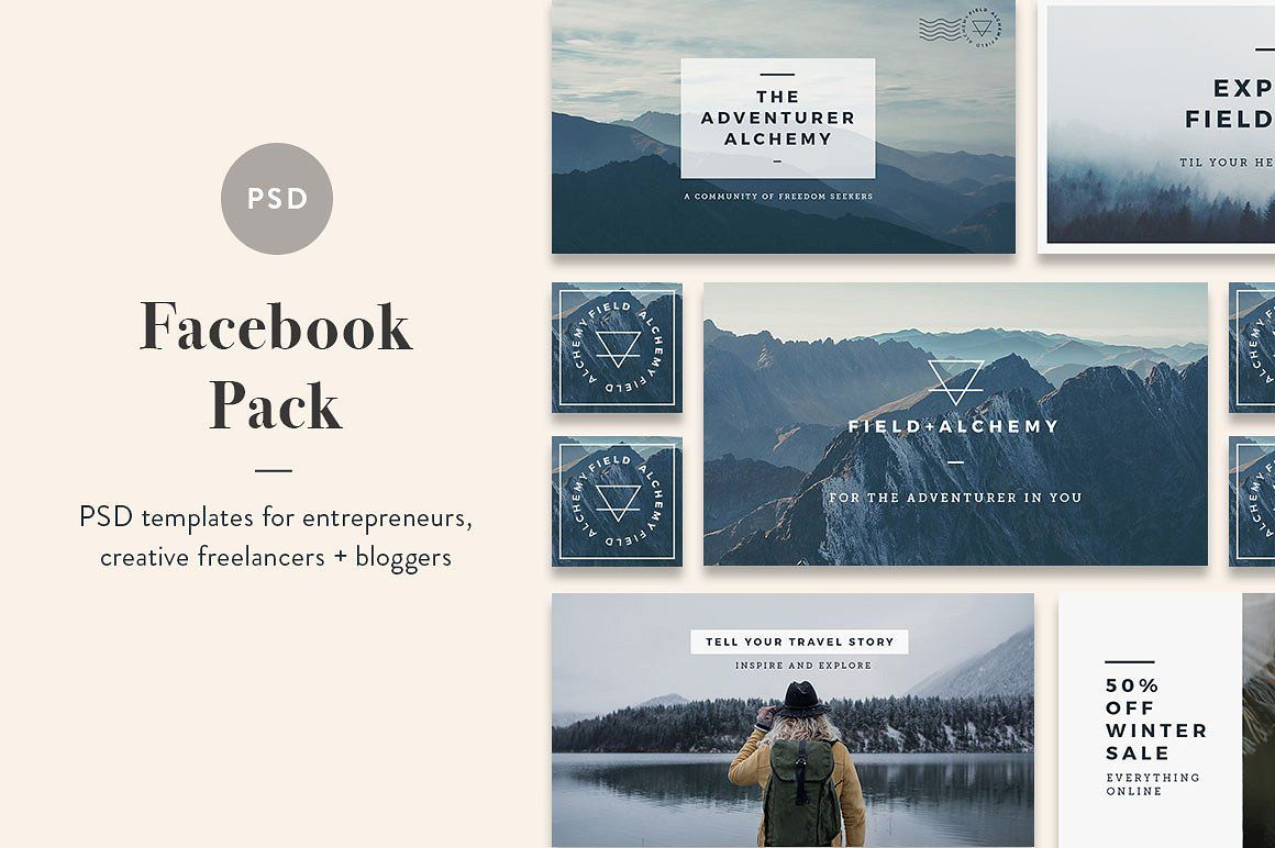 Facebook Post Template Cover And Social Media Pack Minimal Design