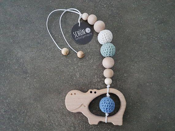 Stroller Chain Crochet Crochet Maxi Cosi Pendant Wood Gripping