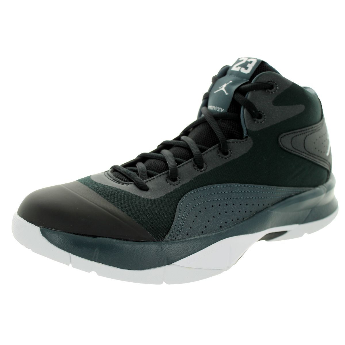 Nike Jordan Men's Jordan Court Vision 00 /White/Classic Charcl Basketball  Shoe