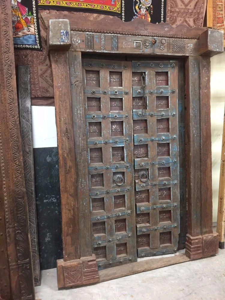 AUTHENTIC Antique Indian Haveli Doors OLD WORLD Architecture CLEARANCE SALE  #MogulInterior - AUTHENTIC Antique Indian Haveli Doors OLD WORLD Architecture