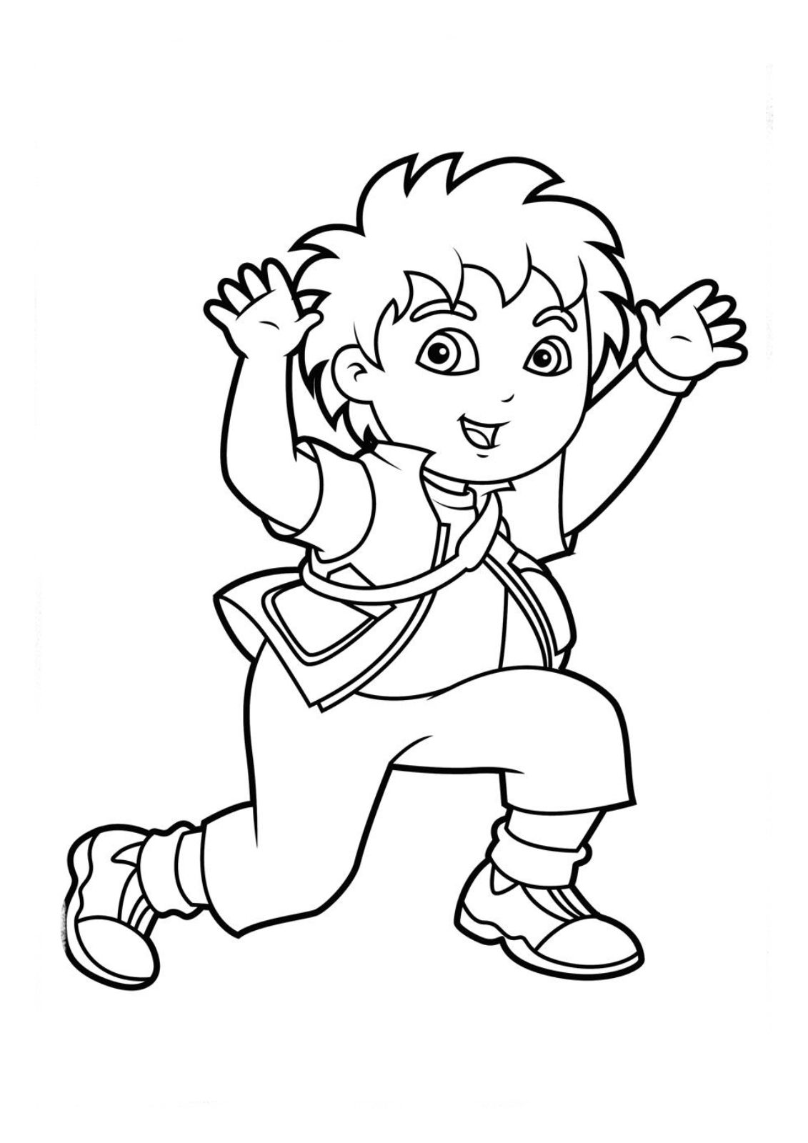 Printable Diego Coloring Pages For Kids Cartoon Coloring Pages Kids Printable Coloring Pages Coloring Pages