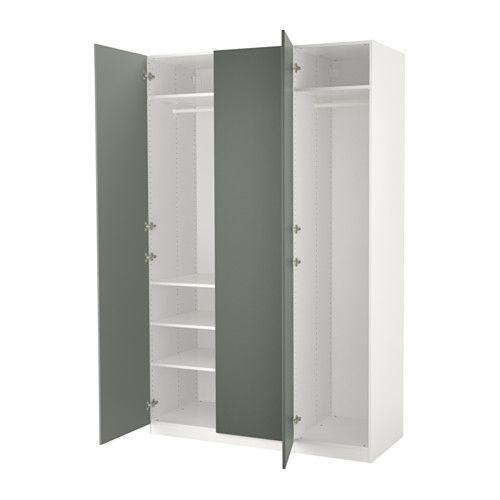 Ikea Pax White Reinsvoll Gray Green Wardrobe Ny Furniture