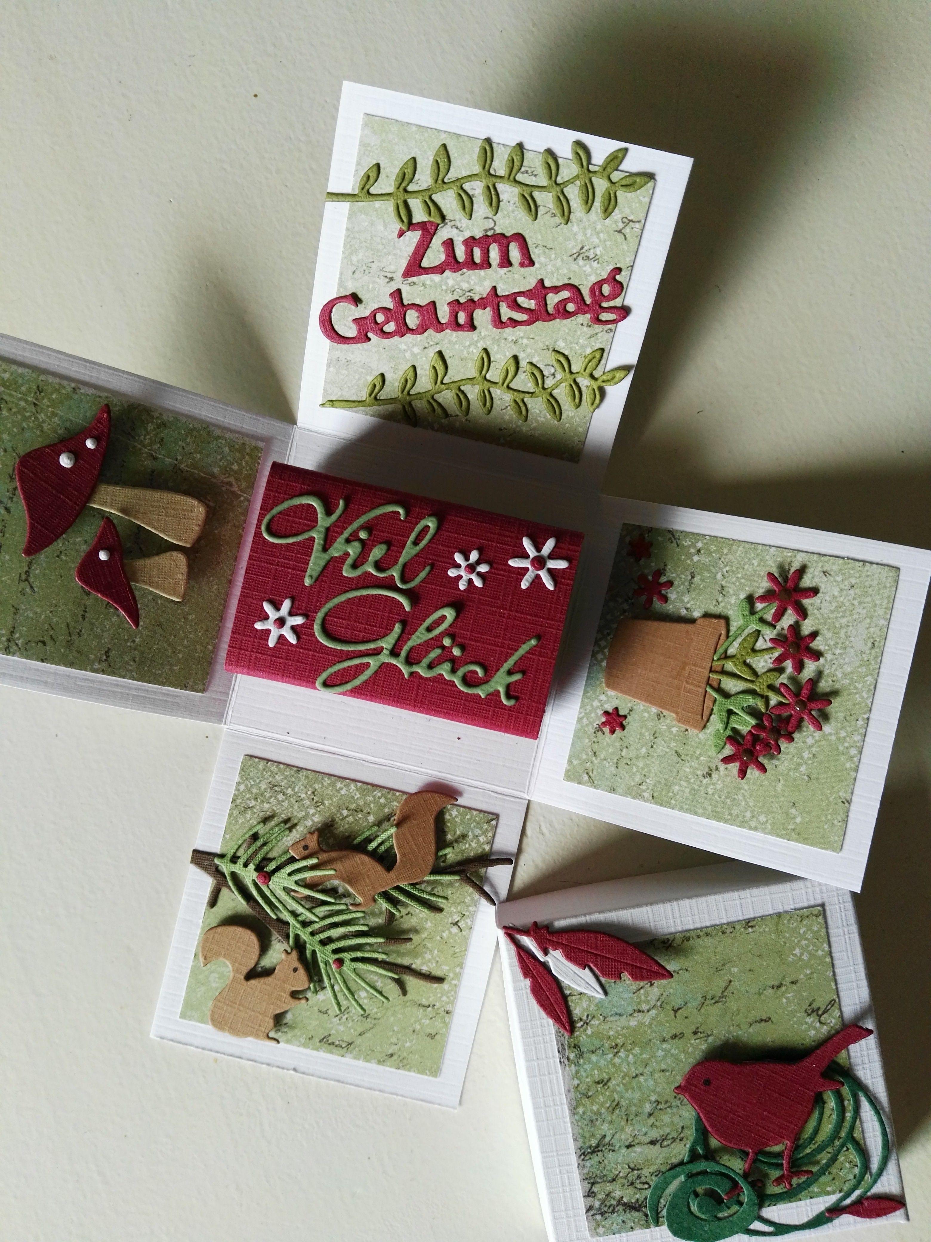 Explosionsbox Geburtstag Basteln Mit Papier Karten Basteln