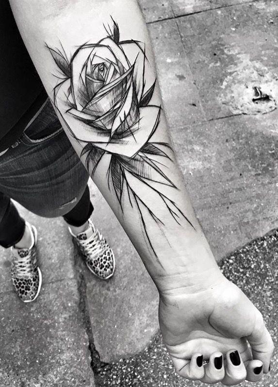 inez janiak rose tattoo a pinterest tatouage tatouage rose y dessin tatouage. Black Bedroom Furniture Sets. Home Design Ideas