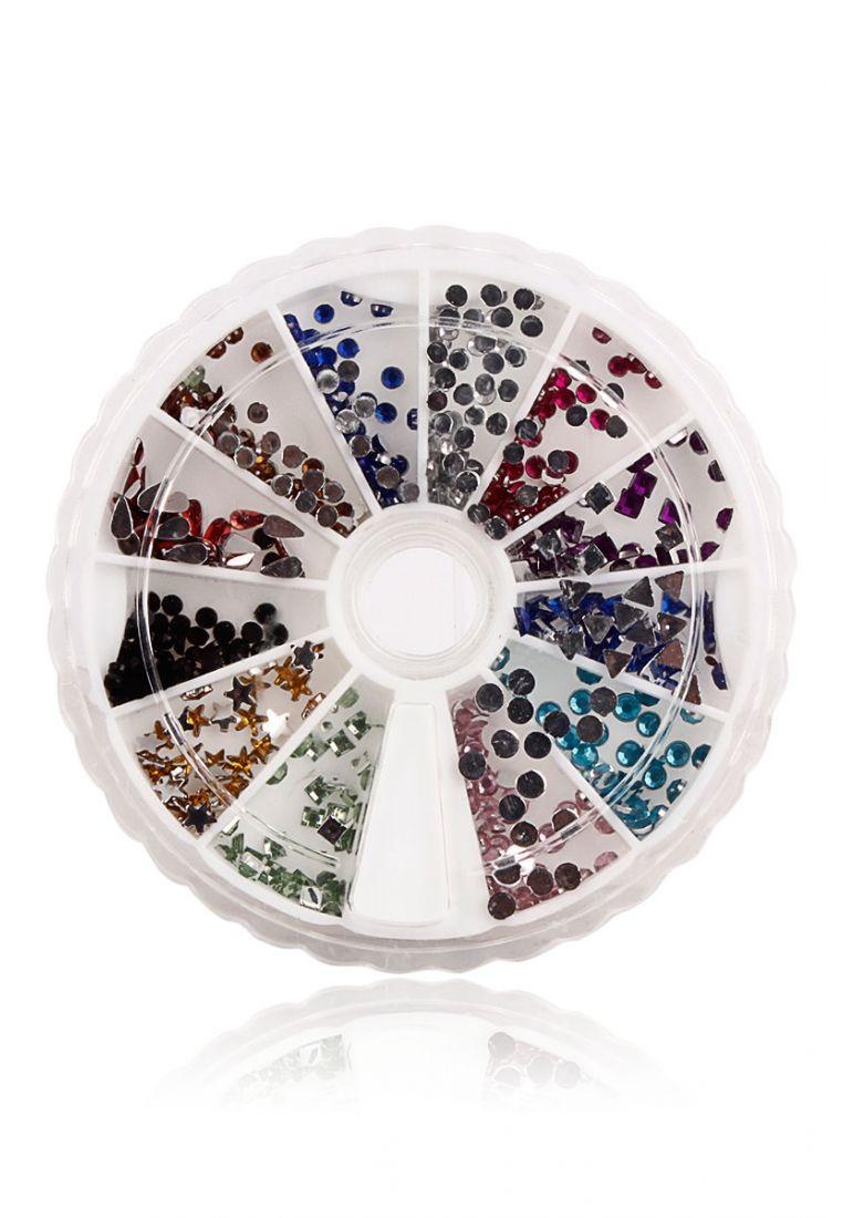 Multicoloured Bling 12 Shapes Rhinestone Nail Art Set – COD, Free Shipping & 7-Day Returns | Daraz.pk