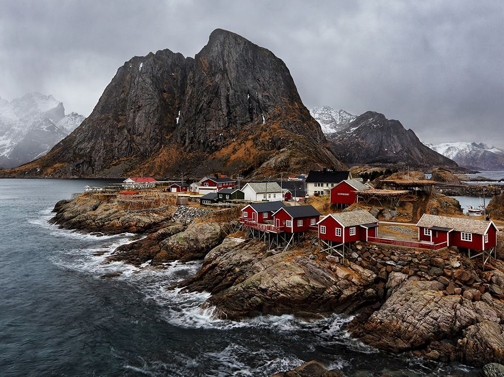Moody Hues // Photograph by Luca Venturi Atmospheric weather conditions in the Lofoten Islands village of Hamnøy gave Luca Venturi the opportunity to take advantage of a less than ideal forecast on a four-day photography trip. The Your Shot member had hoped to capture the aurora borealis on the Norwegian archipelago and found it necessary to adapt.