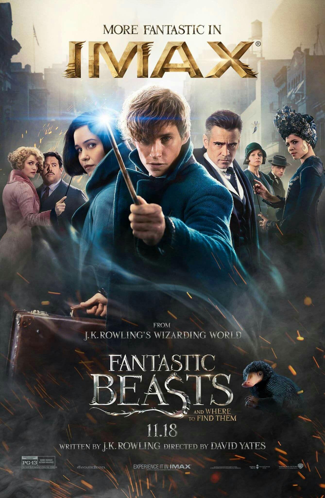 Fantastic Beasts And Where To Find Them Posteres De Filmes Filme Animais Fantasticos Filmes Legais
