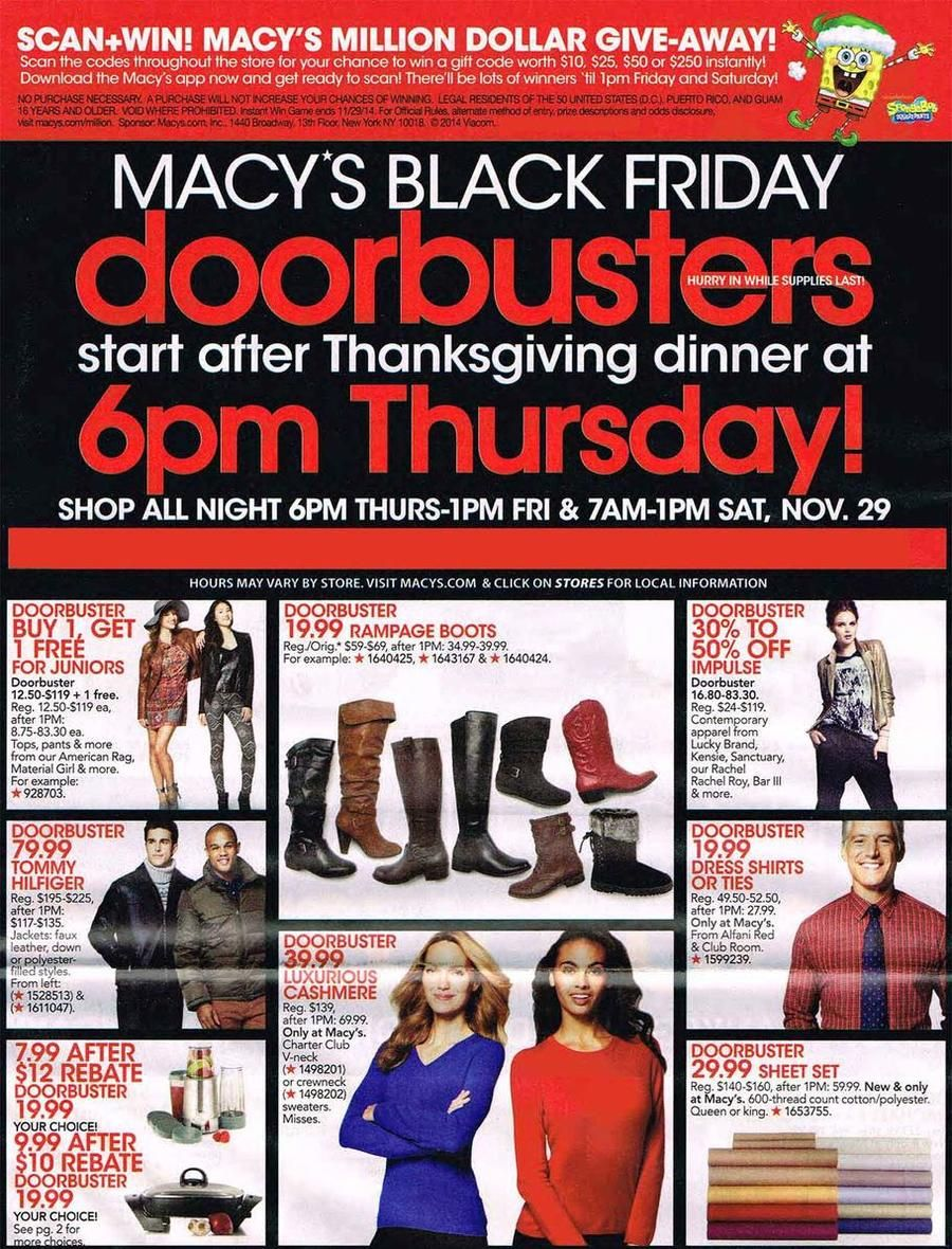 Macys Black Friday 2014 Adscan Get An Additional 7 Cash Back On Your Holiday Shopping AdsSale