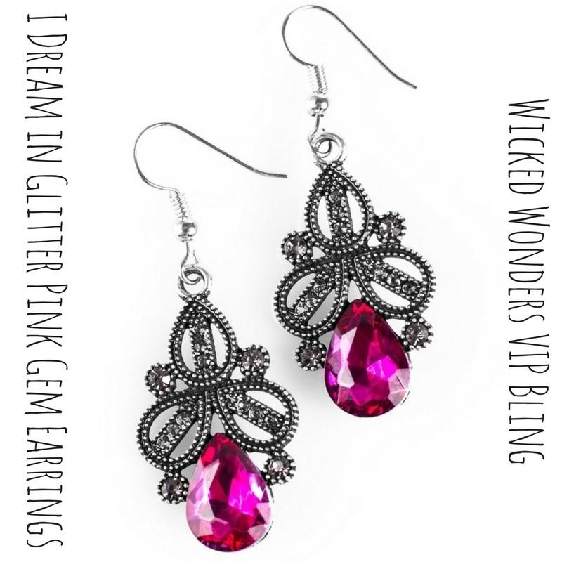9728de23fb6f 💖I Dream in Glitter Pink Gem Earrings ONLY $5.99 💕Smoky rhinestones  embellish a regal