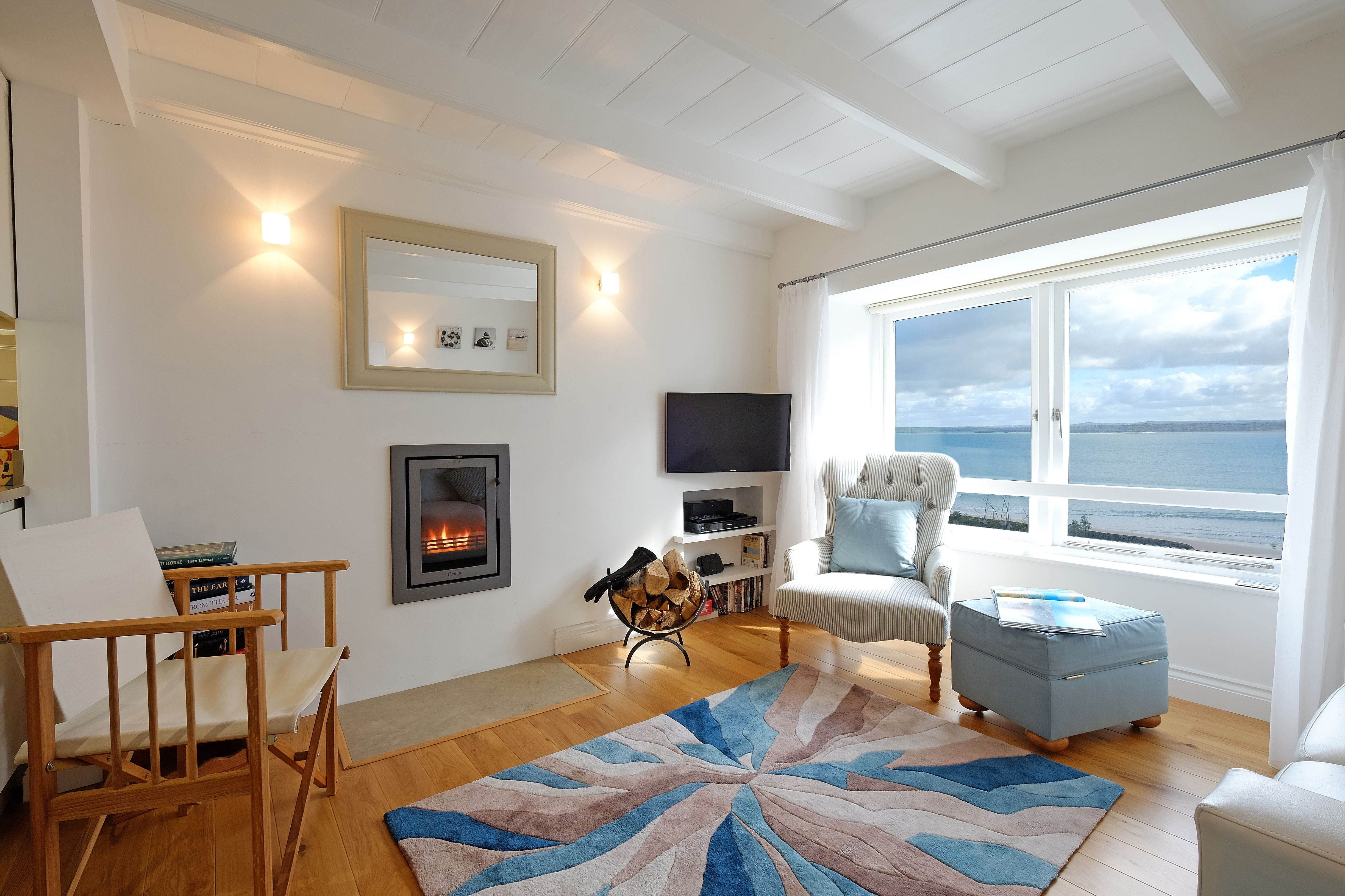 Just A Few Strides From Bamaluz Beach In Old St Ives This Traditional Cottage Boasts Seriously Inspirational Sea V With Images Cornwall Cottages Cottage Coastal Interiors