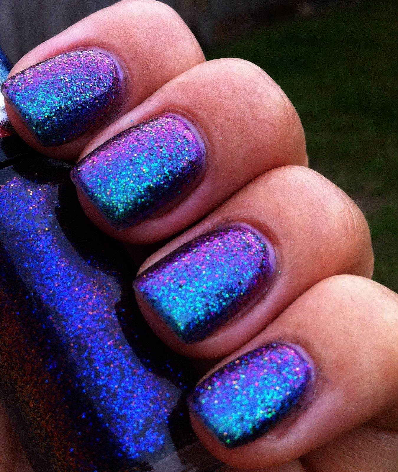 Pink Sparkly Acrylic Nails yet Nail Care Nursing Procedure