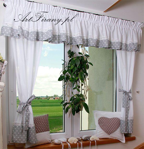 komplet bawe niany firany zas ony kitchen pinterest gardinen fenster gardinen und fenster. Black Bedroom Furniture Sets. Home Design Ideas