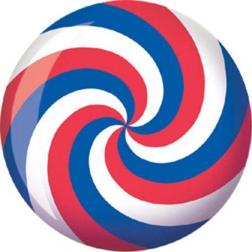 Red//Black Brunswick Spiral Viz A Ball Bowling Ball