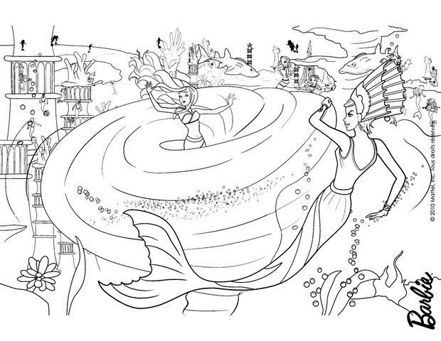 Barbie Merliah Lost In The Whirlpool Coloring Page More Barbie Mermaid Coloring Sheets On Hellokids Com Barbie Coloring Pages Barbie Coloring Coloring Pages