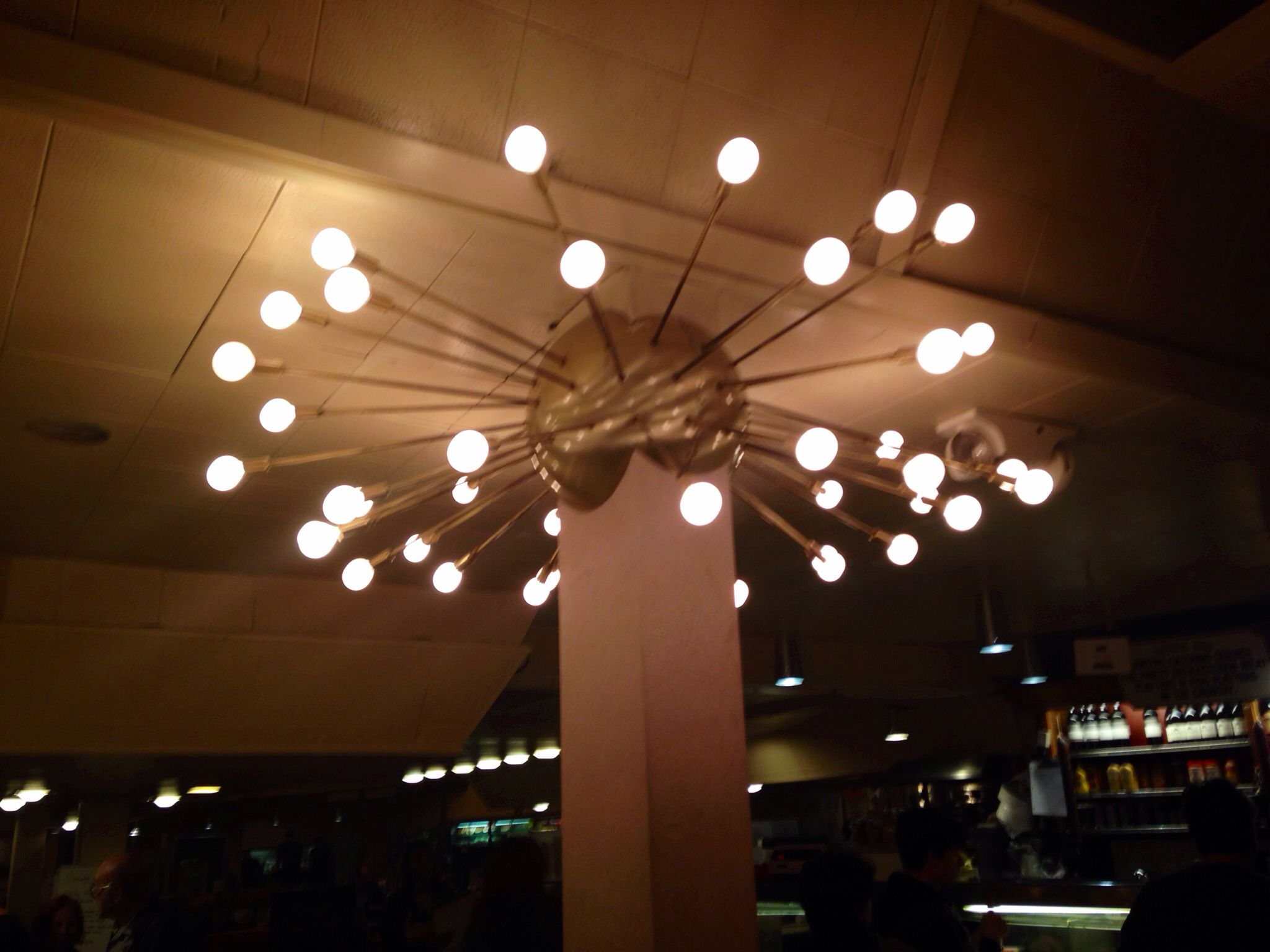 Sputnik light fixture, Canter's Deli Fairfax