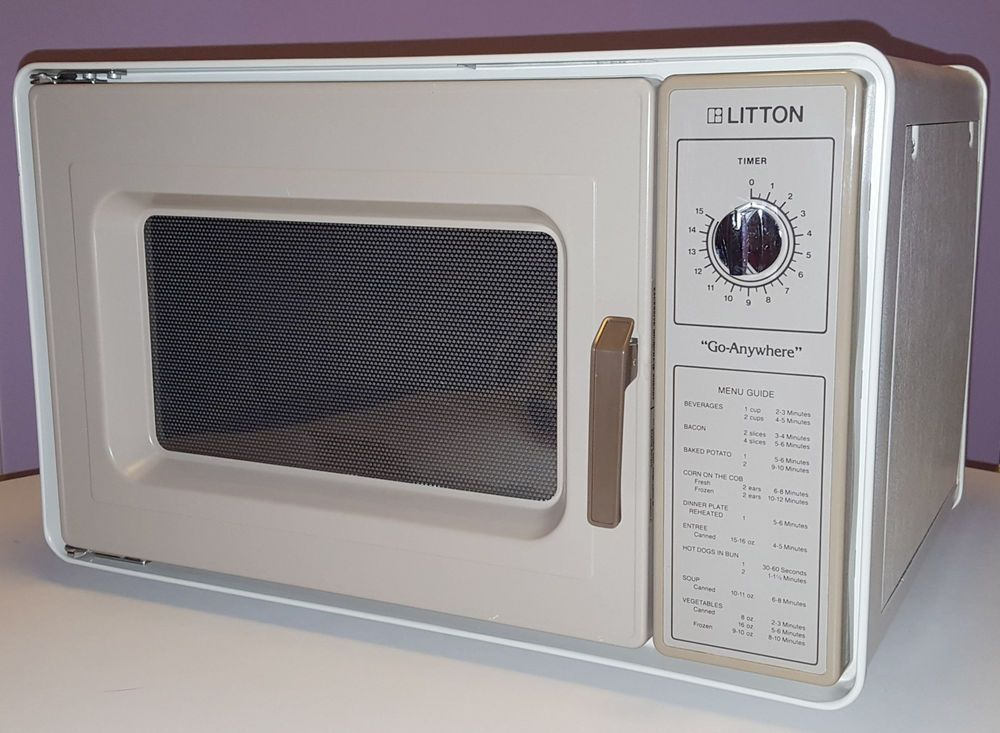 Vintage Microwave Oven 1983 Litton Go Anywhere Commercial Grade Radar Range