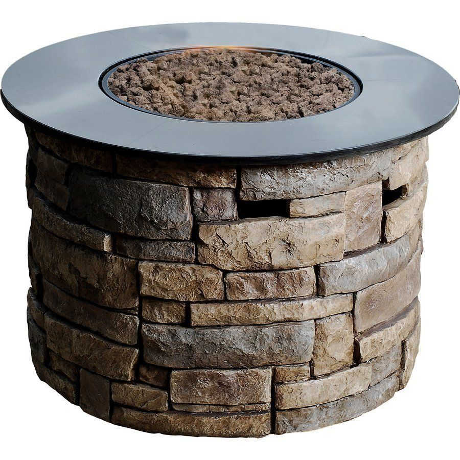 Allen Roth 36 6 In Canyon Ridge Gas Fire Pit Table Gas Firepit