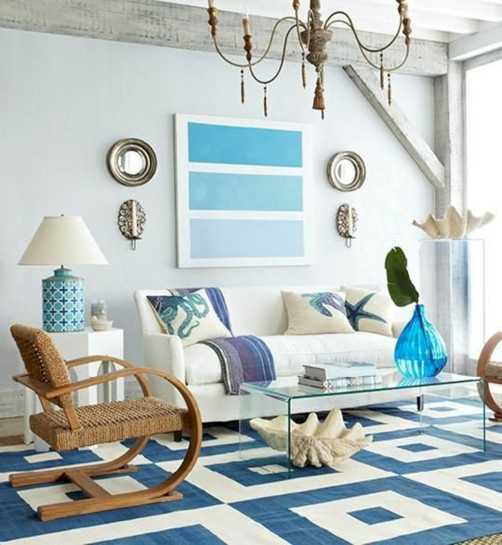88 Modern Coastal Living Room Décor Ideas