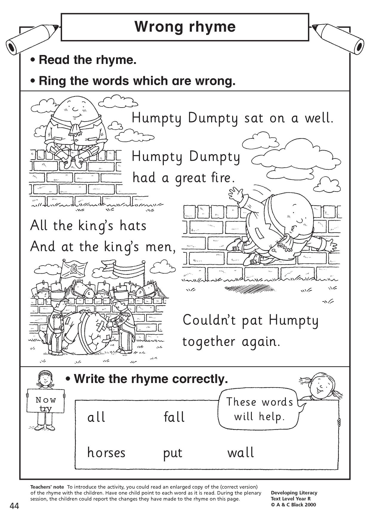 Image Result For Humpty Dumpty Sequence Worksheet Story