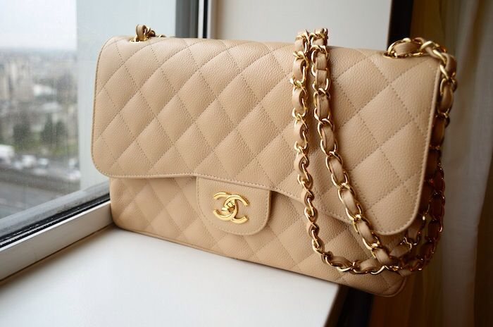 e78ae604c8a949 Chanel light beige jumbo caviar bag with gold hardware | My Fashion ...