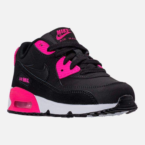 Nike Girls' Preschool 90 Leather Running Shoes | Air max 90