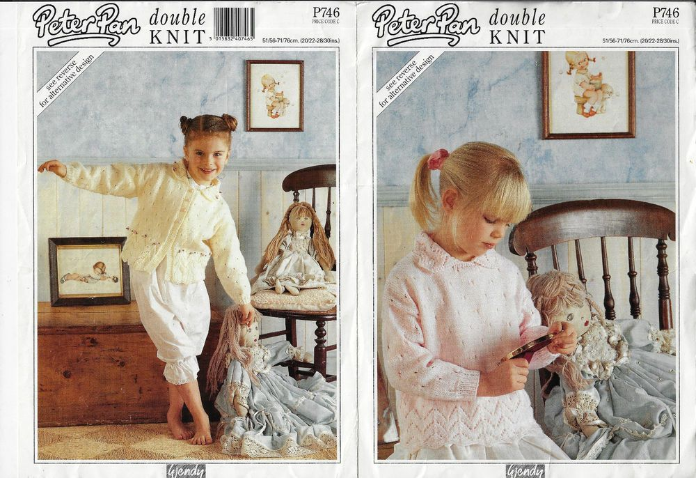 2bb7d9e27103 Details about Child Lace Edge Sweater   Cardigan Wendy P746 knitting ...