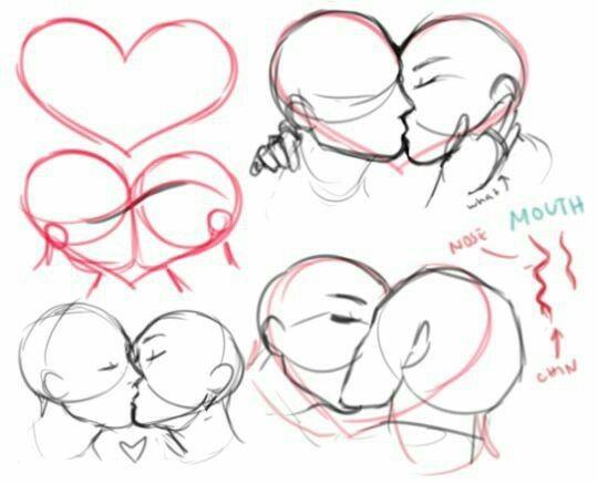 Kiss tumblr drawing