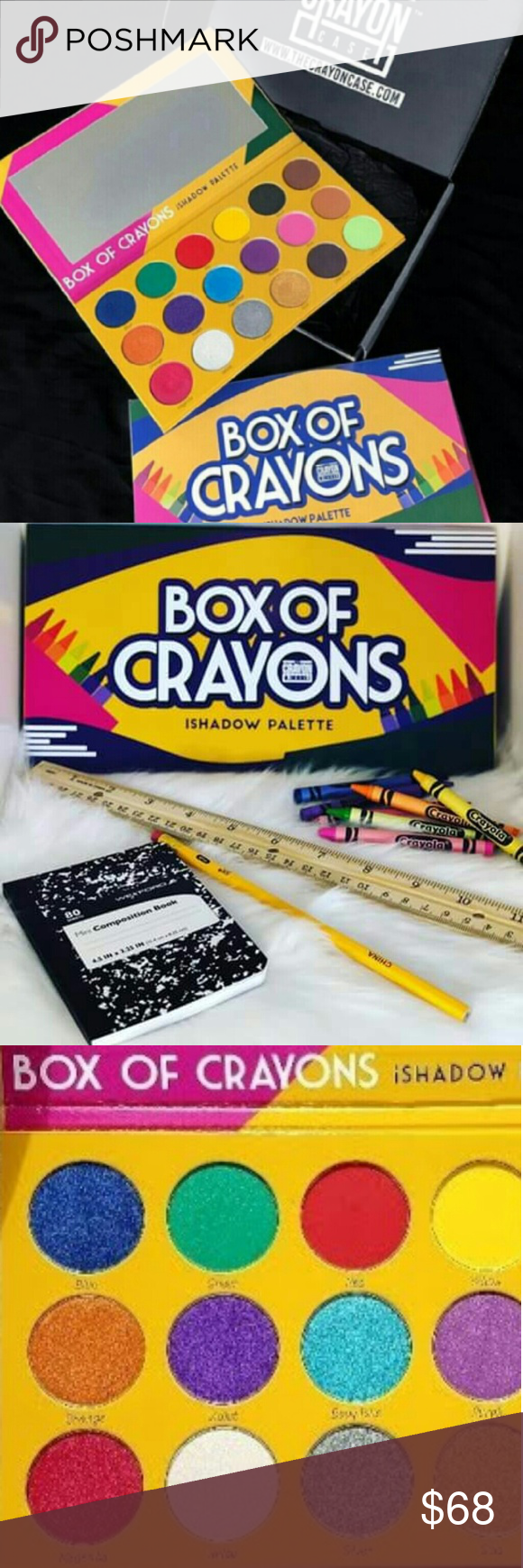 Box of Crayons ishadow palette BNIB & authentic NWT