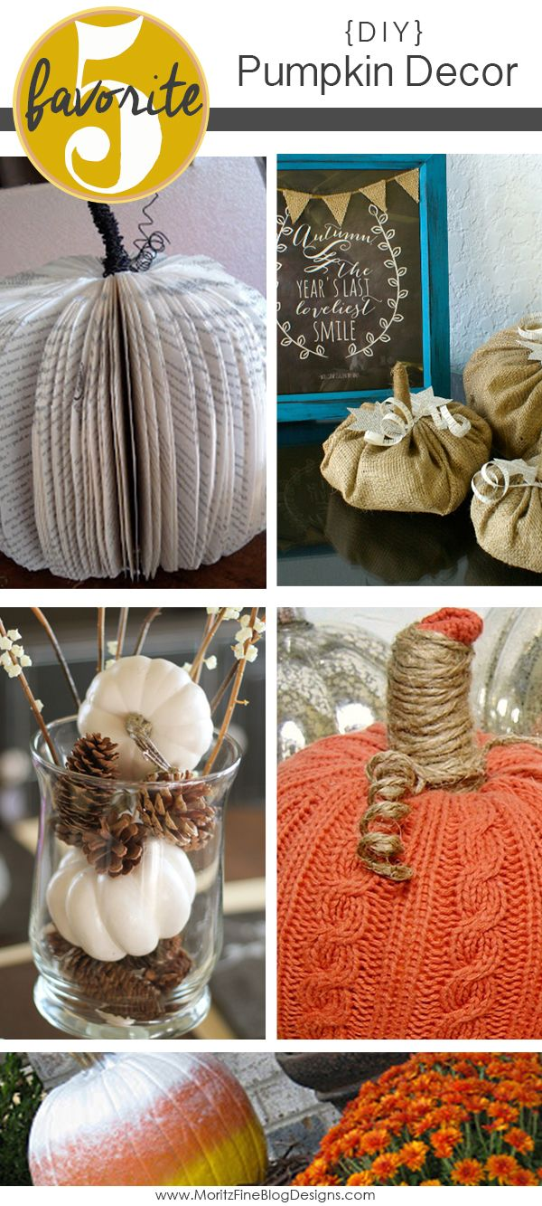 Easy DIY Pumpkin Decorations for your home