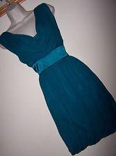 BNWT STUNNING **Warehouse** 'Spotlight' Sz 12 Green Silk Dress