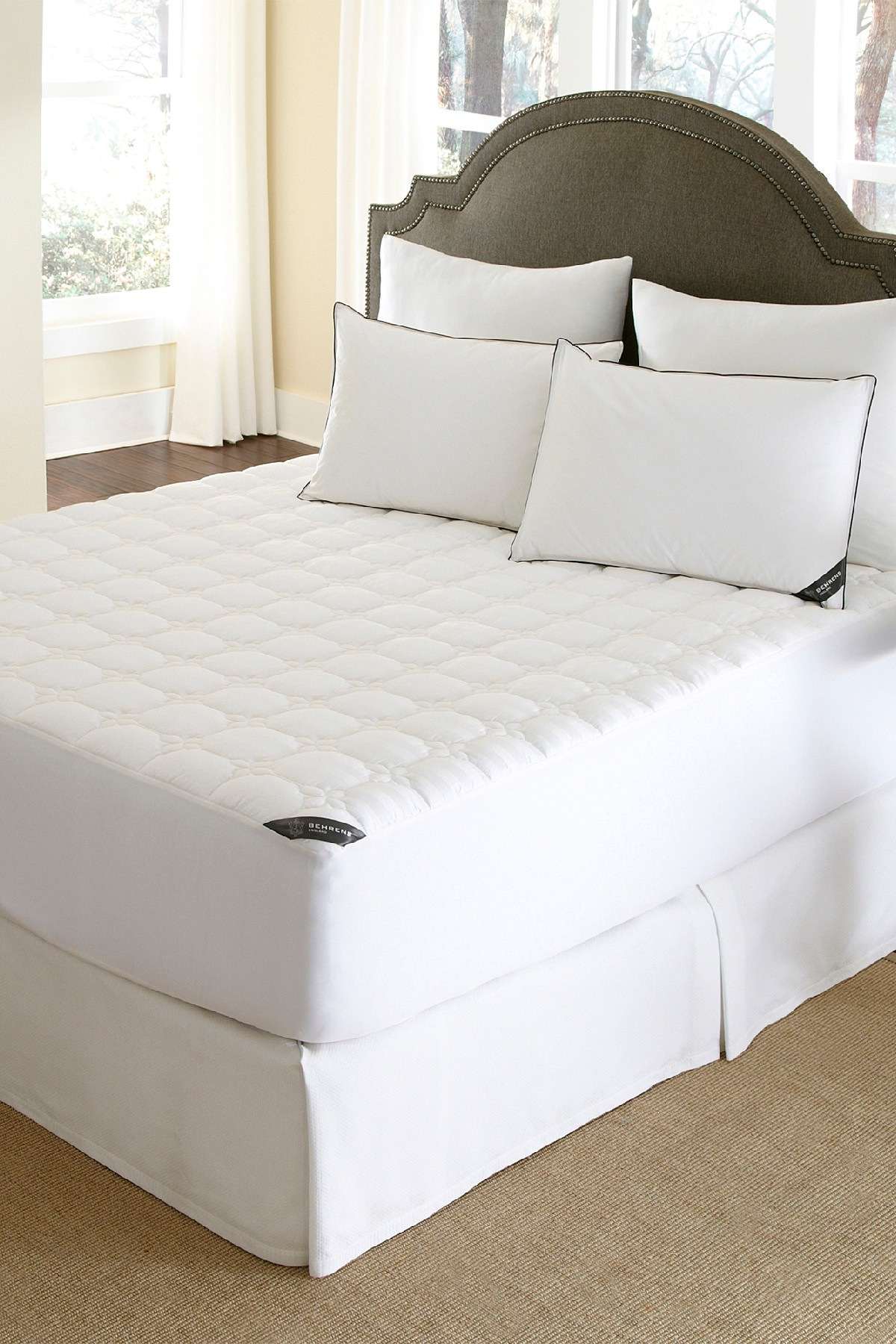 Rio Home England Full Protection Mattress Pad White Mattress Pad Waterproof Mattress Pad Mattress