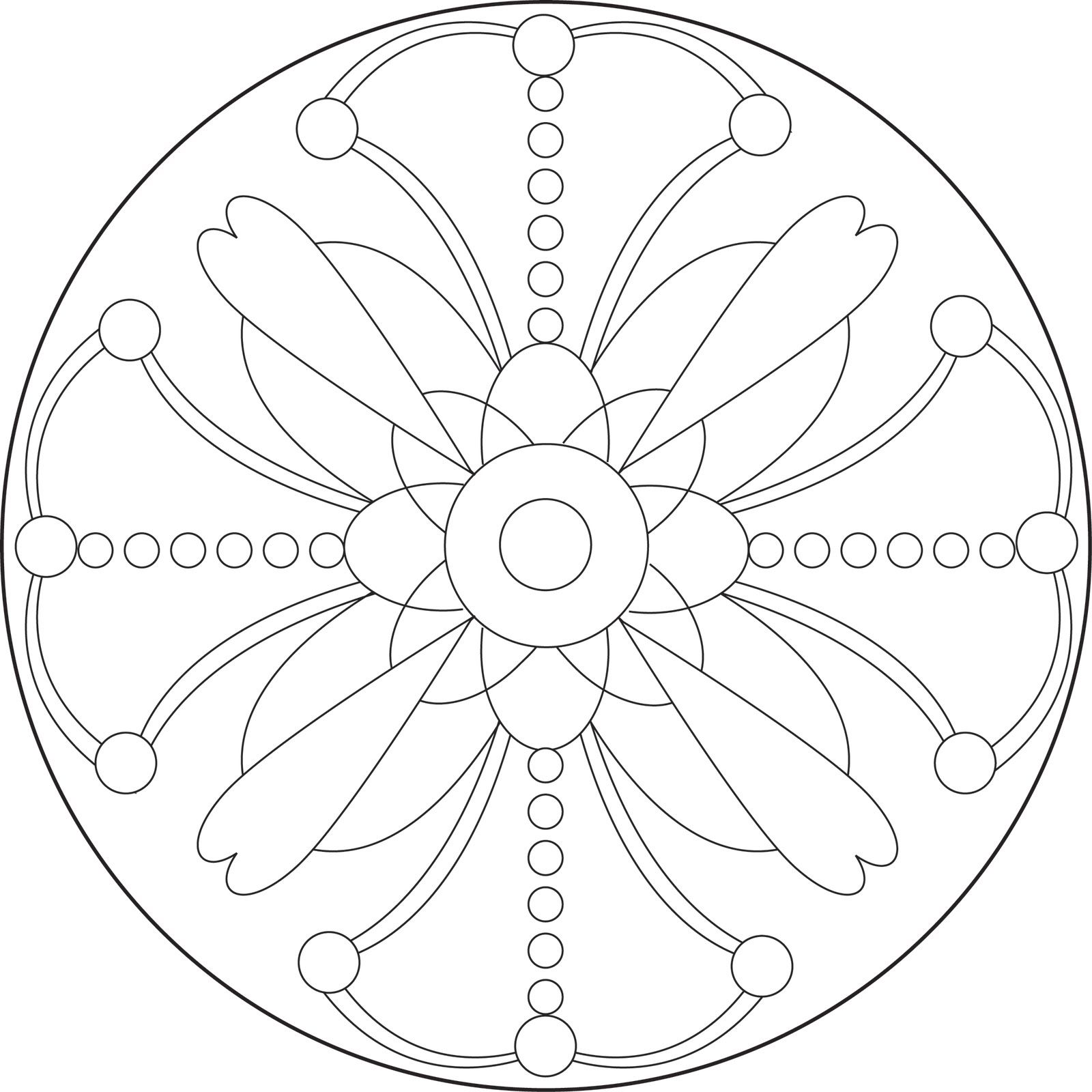 Printable Mandala Patterns | Simple Mandala Coloring Pages ...