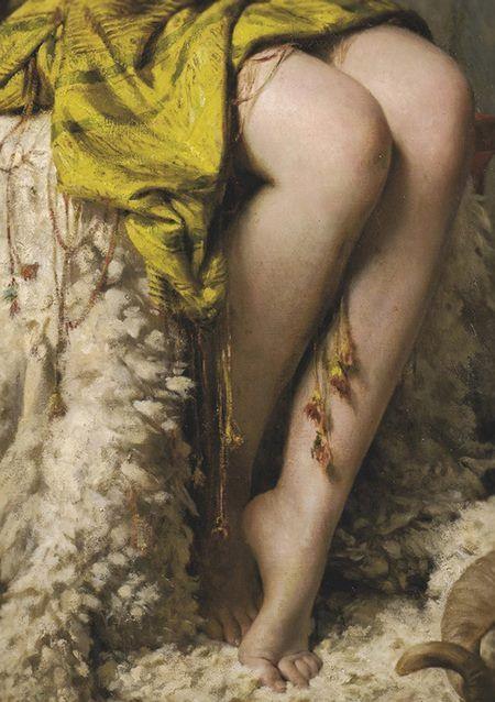 La Joueuse De Mandore, detail, by Theobald Chartran, 1879