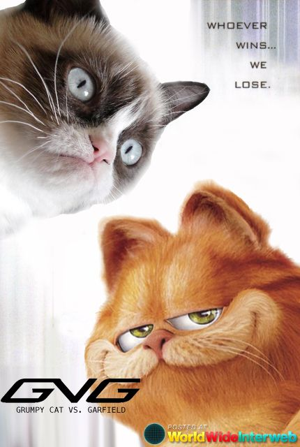 Grumpy cat vs garfield i heart grumpy cat pinterest grumpy cat grumpy cat vs garfield altavistaventures Choice Image