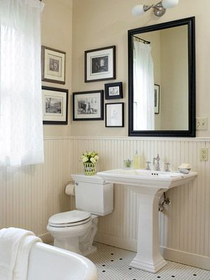 Make a Small Bath Look Larger | For the Home | Pinterest | Dark ...
