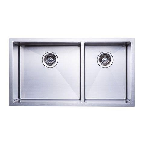 Bai 1229 48 Handmade Stainless Steel Kitchen Sink Double Bowl