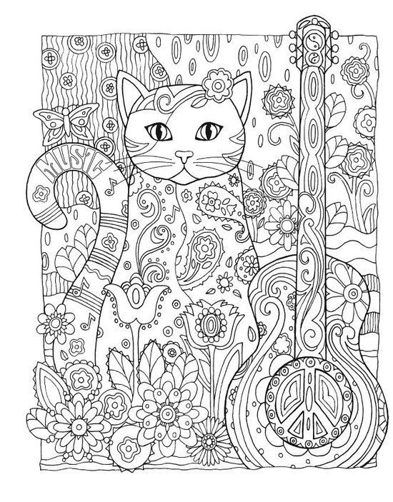 Creative Haven Cats Coloring Book Marjorie Sarnat