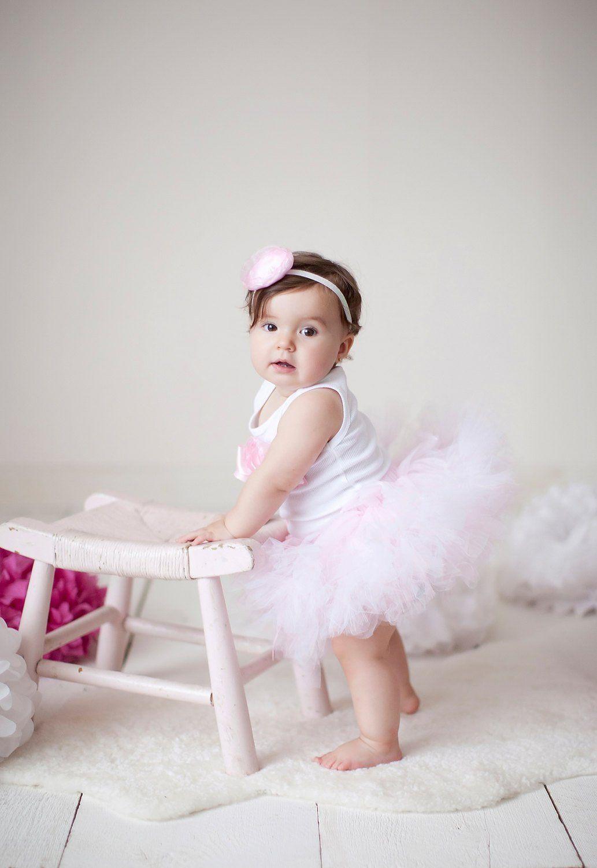 Blush Pink Ballerina Birthday Outfit Girl Cake smash