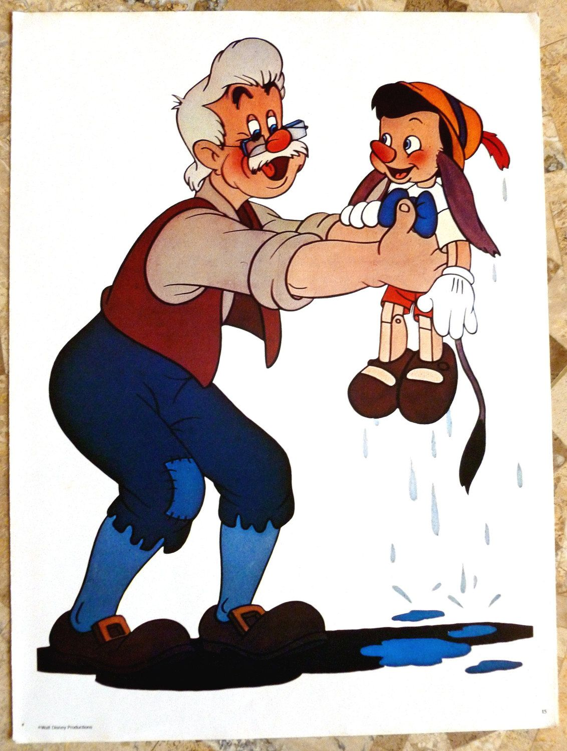 Vintage Disney Poster Geppetto And Pinocchio 1970 39 S Mint Condition 15 X 11 Inches Walt Disney Produ Disney Posters Vintage Disney Poster Vintage Disney [ 1500 x 1132 Pixel ]