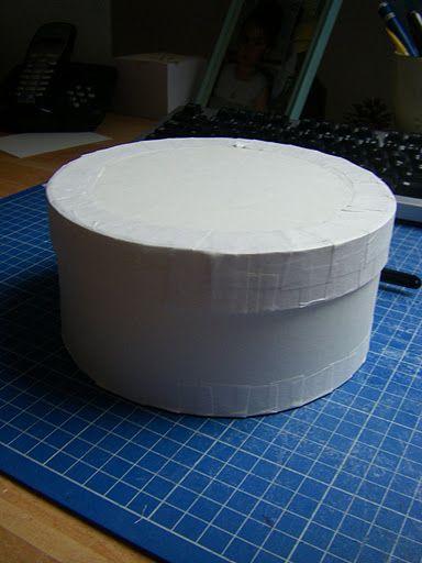 le tuto pour une boite ronde a faire vite cartonnage boite en carton et carton. Black Bedroom Furniture Sets. Home Design Ideas
